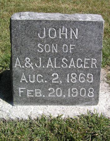 ALSAGER, JOHN - Hamilton County, Iowa   JOHN ALSAGER