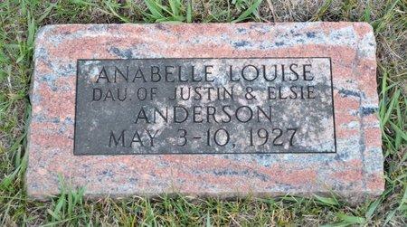ANDERSON, ANABELLE LOUISE - Hamilton County, Iowa | ANABELLE LOUISE ANDERSON
