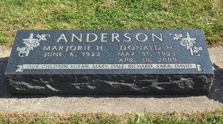 ANDERSON, DONALD H. - Hamilton County, Iowa   DONALD H. ANDERSON