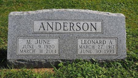 RUDDICK ANDERSON, M. JUNE - Hamilton County, Iowa | M. JUNE RUDDICK ANDERSON
