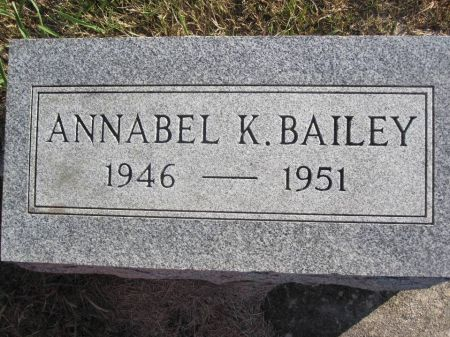BAILEY, ANNABEL K. - Hamilton County, Iowa   ANNABEL K. BAILEY