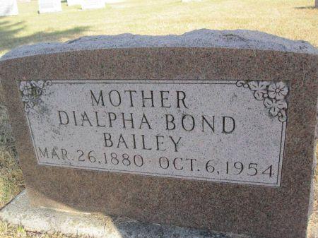 BAILEY, DIALPHA - Hamilton County, Iowa   DIALPHA BAILEY