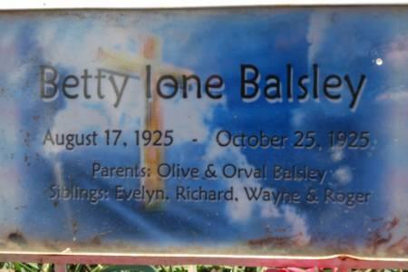 BALSLEY, BETTY IONE - Hamilton County, Iowa | BETTY IONE BALSLEY
