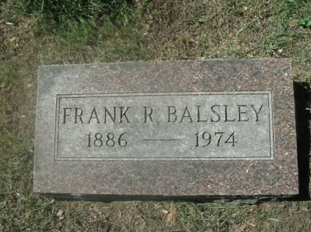 BALSLEY, FRANK R. - Hamilton County, Iowa   FRANK R. BALSLEY