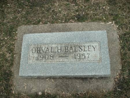 BALSLEY, ORVAL H. - Hamilton County, Iowa | ORVAL H. BALSLEY