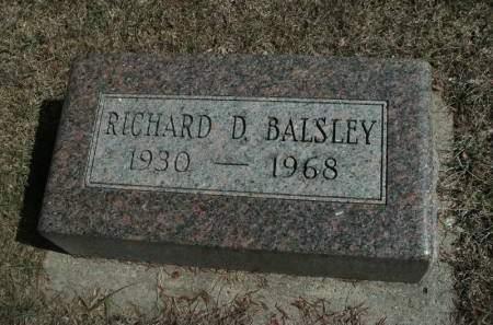BALSLEY, RICHARD D. - Hamilton County, Iowa   RICHARD D. BALSLEY