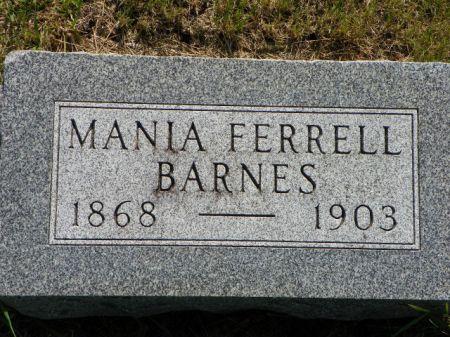 FERRELL BARNES, MANIA - Hamilton County, Iowa   MANIA FERRELL BARNES