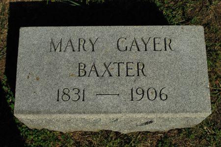 GAYER BAXTER, MARY - Hamilton County, Iowa   MARY GAYER BAXTER