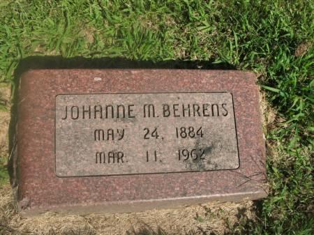 BEHRENS, JOHANNE M. - Hamilton County, Iowa | JOHANNE M. BEHRENS