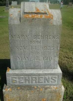 BEHRENS, MARY - Hamilton County, Iowa   MARY BEHRENS