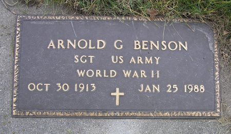 BENSON, ARNOLD G. - Hamilton County, Iowa | ARNOLD G. BENSON