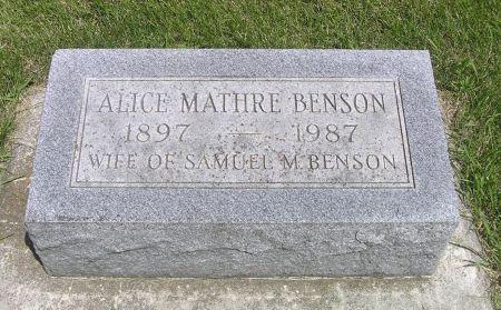 BENSON, ALICE - Hamilton County, Iowa | ALICE BENSON