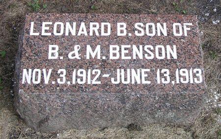 BENSON, LEONARD B. - Hamilton County, Iowa | LEONARD B. BENSON
