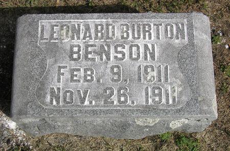 BENSON, LEONARD BURTON - Hamilton County, Iowa   LEONARD BURTON BENSON