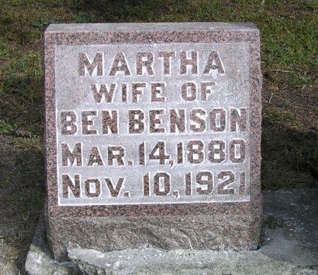 BENSON, MARTHA - Hamilton County, Iowa   MARTHA BENSON