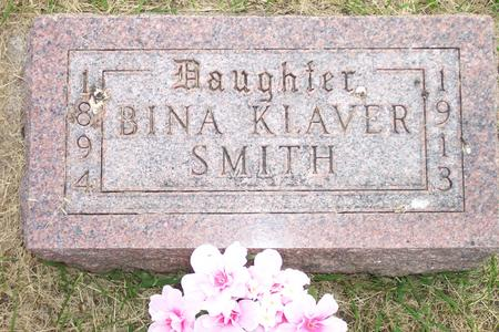 KLAVER SMITH, BINA - Hamilton County, Iowa   BINA KLAVER SMITH