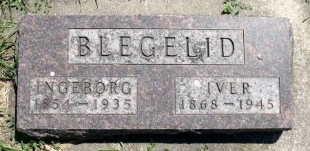 BLEGELID, IVER - Hamilton County, Iowa   IVER BLEGELID