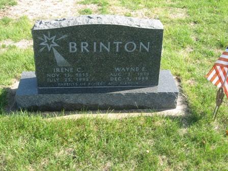 UNGER BRINTON, IRENE CATHERINE - Hamilton County, Iowa | IRENE CATHERINE UNGER BRINTON