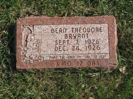 BRYANT, DEAN THEODORE - Hamilton County, Iowa | DEAN THEODORE BRYANT