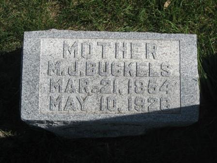 RINKER BUCKELS, MARTHA JANE - Hamilton County, Iowa | MARTHA JANE RINKER BUCKELS