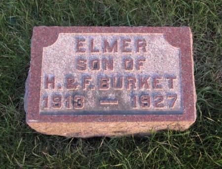 BURKET, ELMER - Hamilton County, Iowa   ELMER BURKET