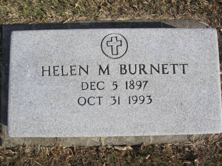 BURNETT, HELEN M. - Hamilton County, Iowa   HELEN M. BURNETT