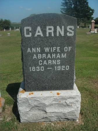 CARNS, ANN - Hamilton County, Iowa   ANN CARNS
