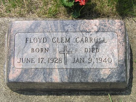 CARROLL, FLOYD CLEM - Hamilton County, Iowa   FLOYD CLEM CARROLL