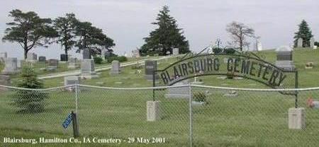 BLAIRSBURG, CEMETERY - Hamilton County, Iowa | CEMETERY BLAIRSBURG