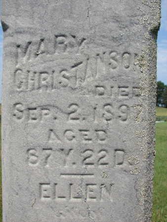 CHRISTIANSON, MARY - Hamilton County, Iowa | MARY CHRISTIANSON