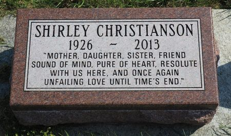 CHRISTIANSON, SHIRLEY - Hamilton County, Iowa   SHIRLEY CHRISTIANSON