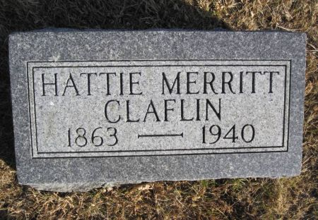 MERRITT CLAFLIN, HATTIE - Hamilton County, Iowa | HATTIE MERRITT CLAFLIN