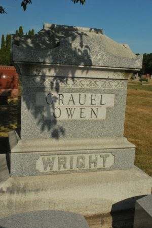 CRAUEL-OWEN-WRIGHT, FAMILY STONE - Hamilton County, Iowa | FAMILY STONE CRAUEL-OWEN-WRIGHT