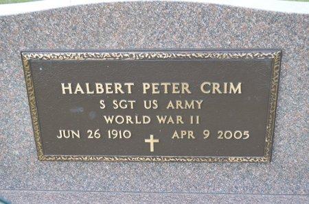 CRIM, HALBERT PETER - Hamilton County, Iowa   HALBERT PETER CRIM