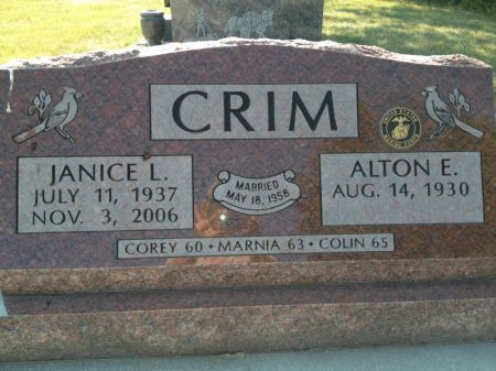 CRIM, JANICE L. - Hamilton County, Iowa | JANICE L. CRIM