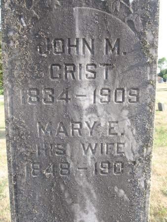 ROSS CRIST, MARY E. - Hamilton County, Iowa | MARY E. ROSS CRIST