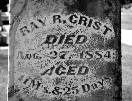 CRIST, RAY R. - Hamilton County, Iowa   RAY R. CRIST