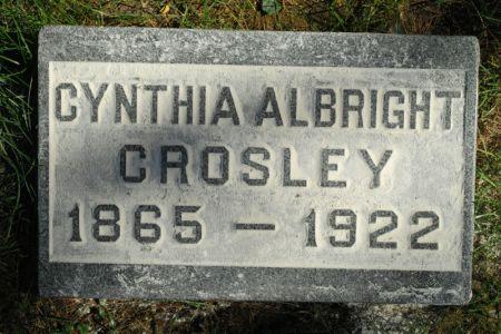 ALBRIGHT CROSLEY, CYNTHIA - Hamilton County, Iowa   CYNTHIA ALBRIGHT CROSLEY