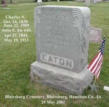 EATON, JULIA E - Hamilton County, Iowa | JULIA E EATON