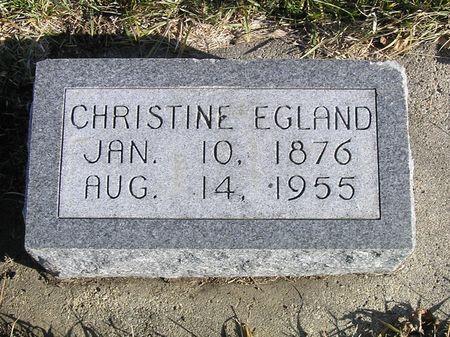EGLAND, CHRISTINE - Hamilton County, Iowa   CHRISTINE EGLAND