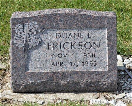 ERICKSON, DUANE E. - Hamilton County, Iowa   DUANE E. ERICKSON