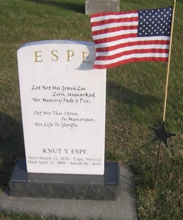 ESPE, KNUT Y. - Hamilton County, Iowa   KNUT Y. ESPE