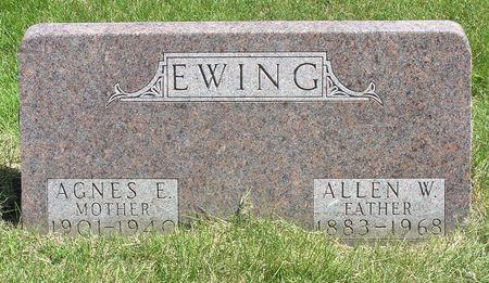 EWING, AGNES E. - Hamilton County, Iowa   AGNES E. EWING