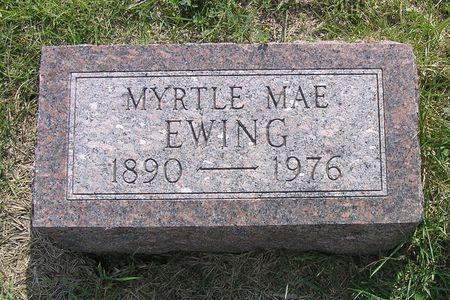 EWING, MYRTLE MAE - Hamilton County, Iowa | MYRTLE MAE EWING