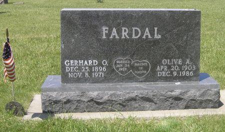 HILL FARDAL, OLIVE A. - Hamilton County, Iowa | OLIVE A. HILL FARDAL