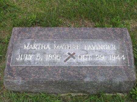 FAVINGER, MARTHA - Hamilton County, Iowa   MARTHA FAVINGER