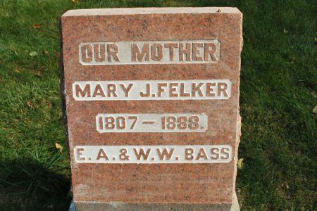 FELKER, MARY J. - Hamilton County, Iowa | MARY J. FELKER