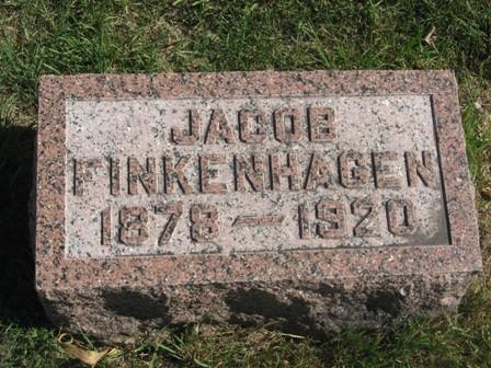 FINKENHAGEN, JACOB - Hamilton County, Iowa   JACOB FINKENHAGEN