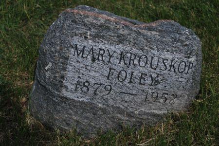 KROUSKOP FOLEY, MARY - Hamilton County, Iowa | MARY KROUSKOP FOLEY