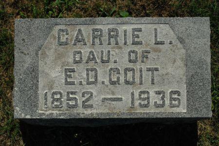 GOIT, CARRIE L. - Hamilton County, Iowa | CARRIE L. GOIT